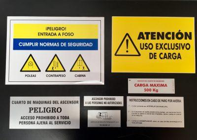 Placas para ascensores y elevadores