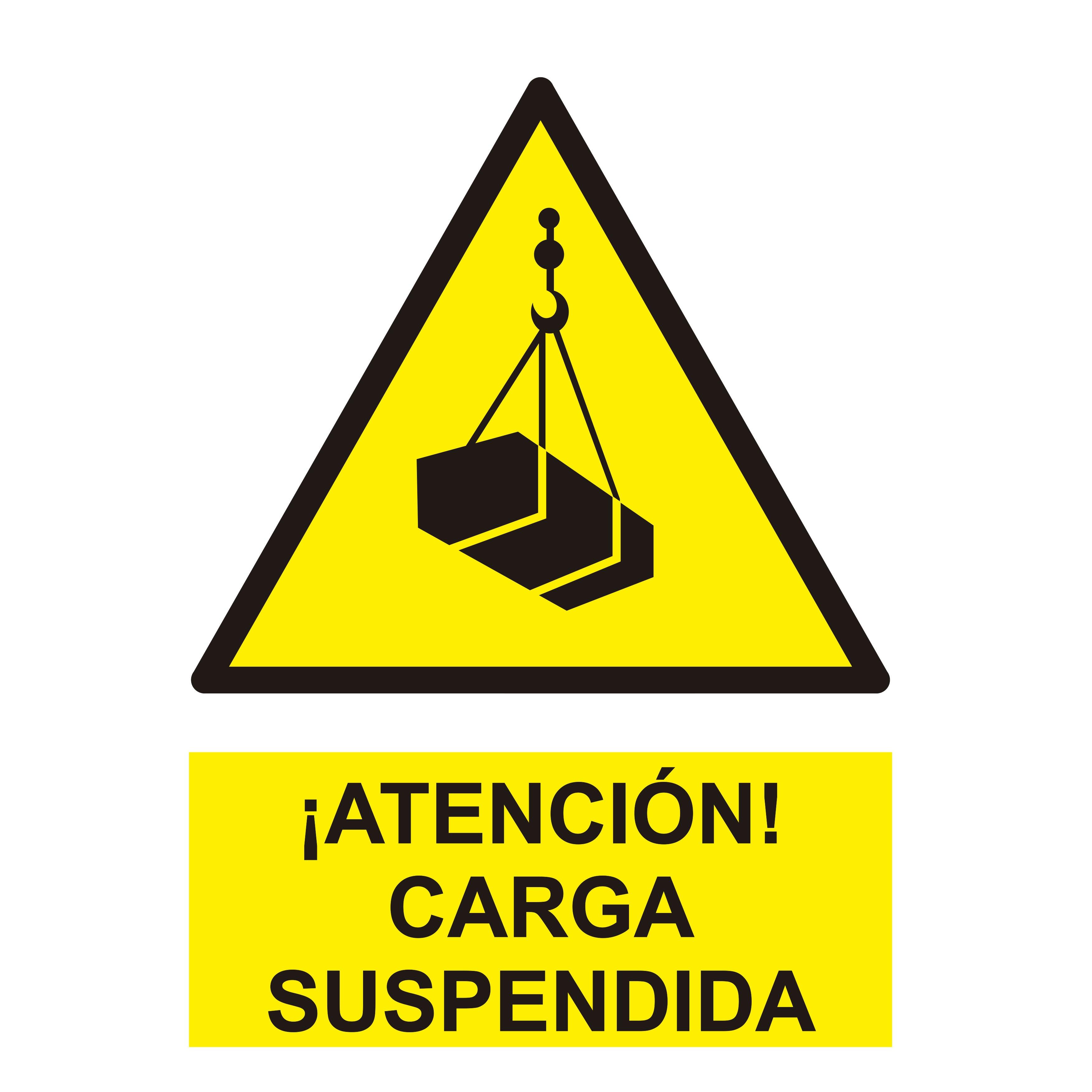 Señal ¡ATENCIÓN! CARGA SUSPENDIDA