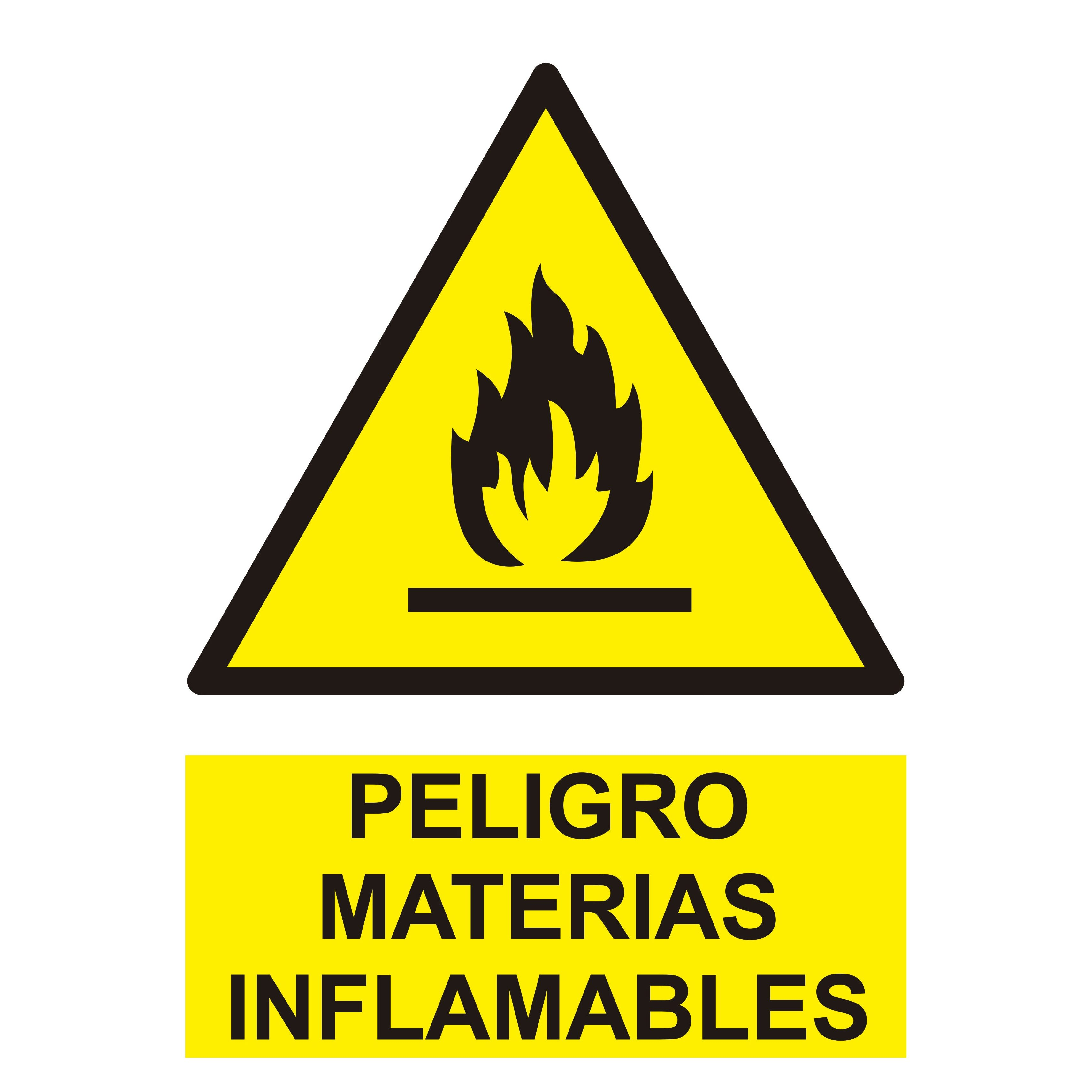Señal PELIGRO MATERIAS INFLAMABLES