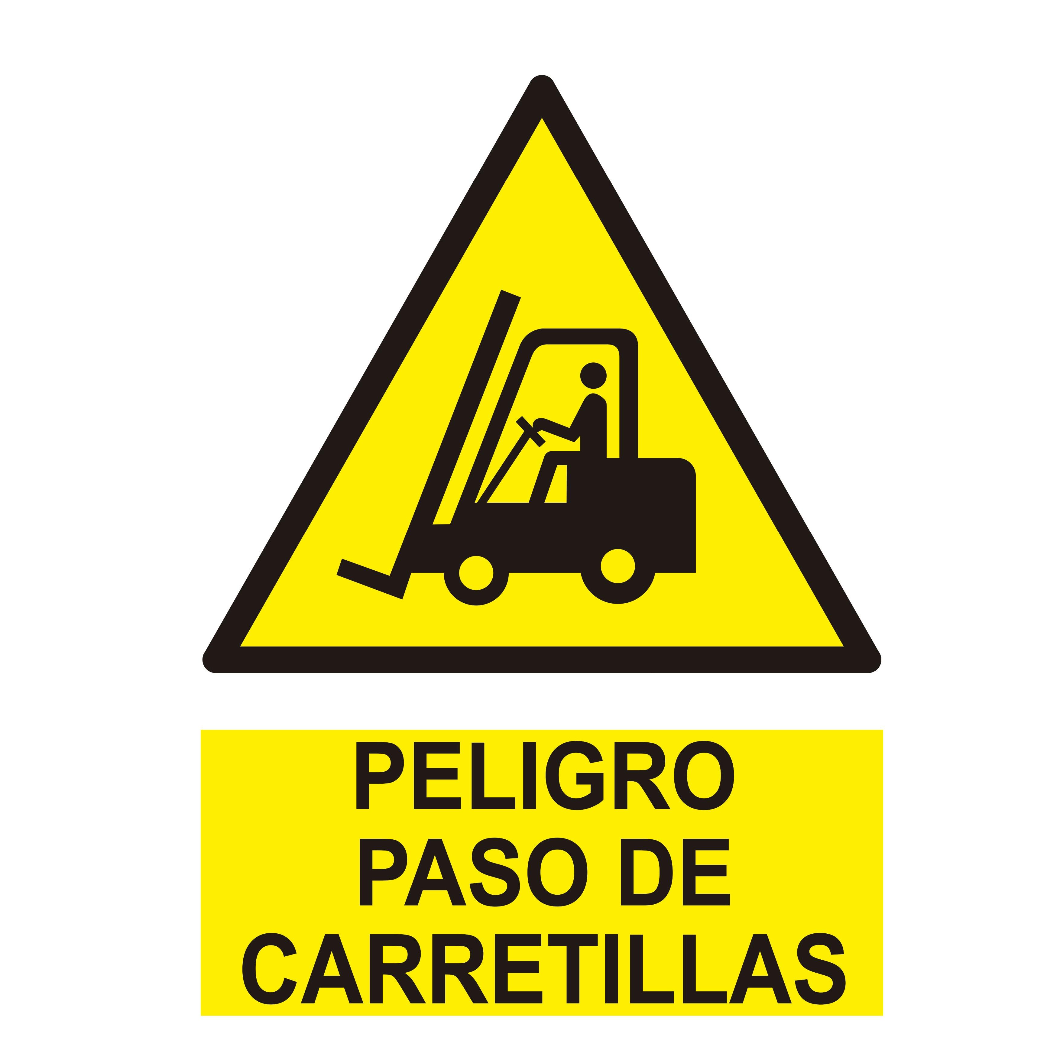 Señal PELIGRO PASO DE CARRETILLAS