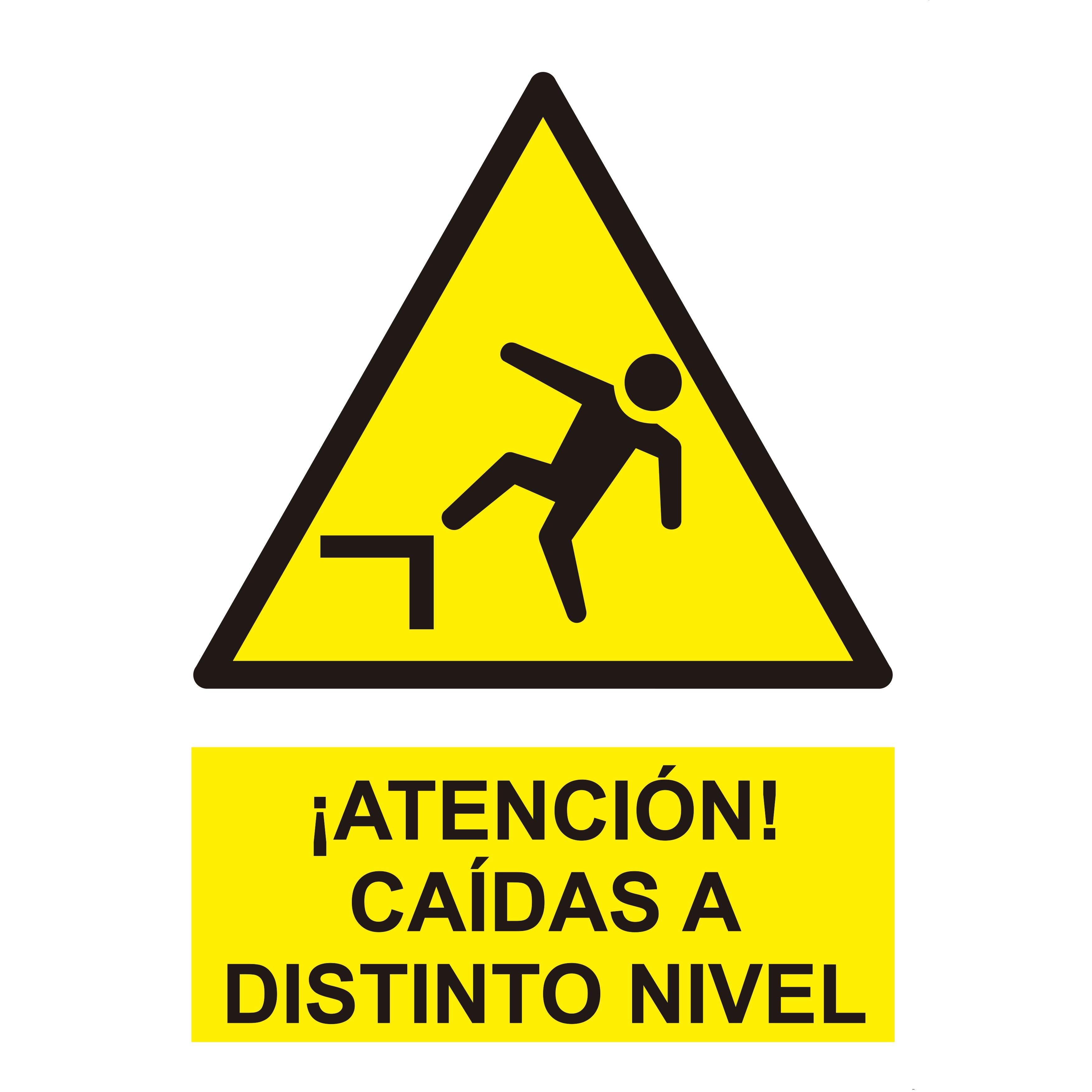 Señal ATENCIÓN CAIDAS A DISTINTO NIVEL