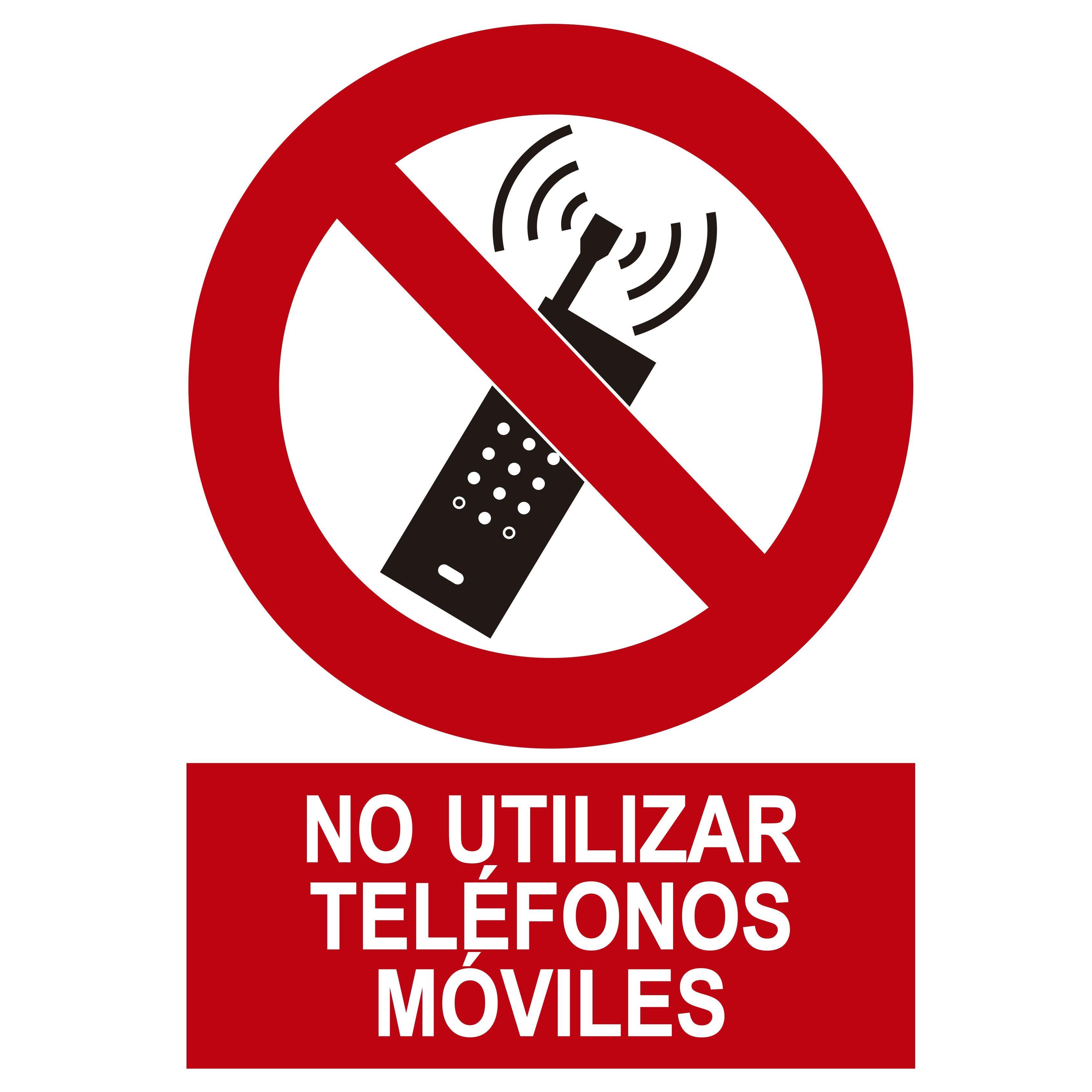 Señal NO UTILIZAR EL TELÉFONO MOVIL
