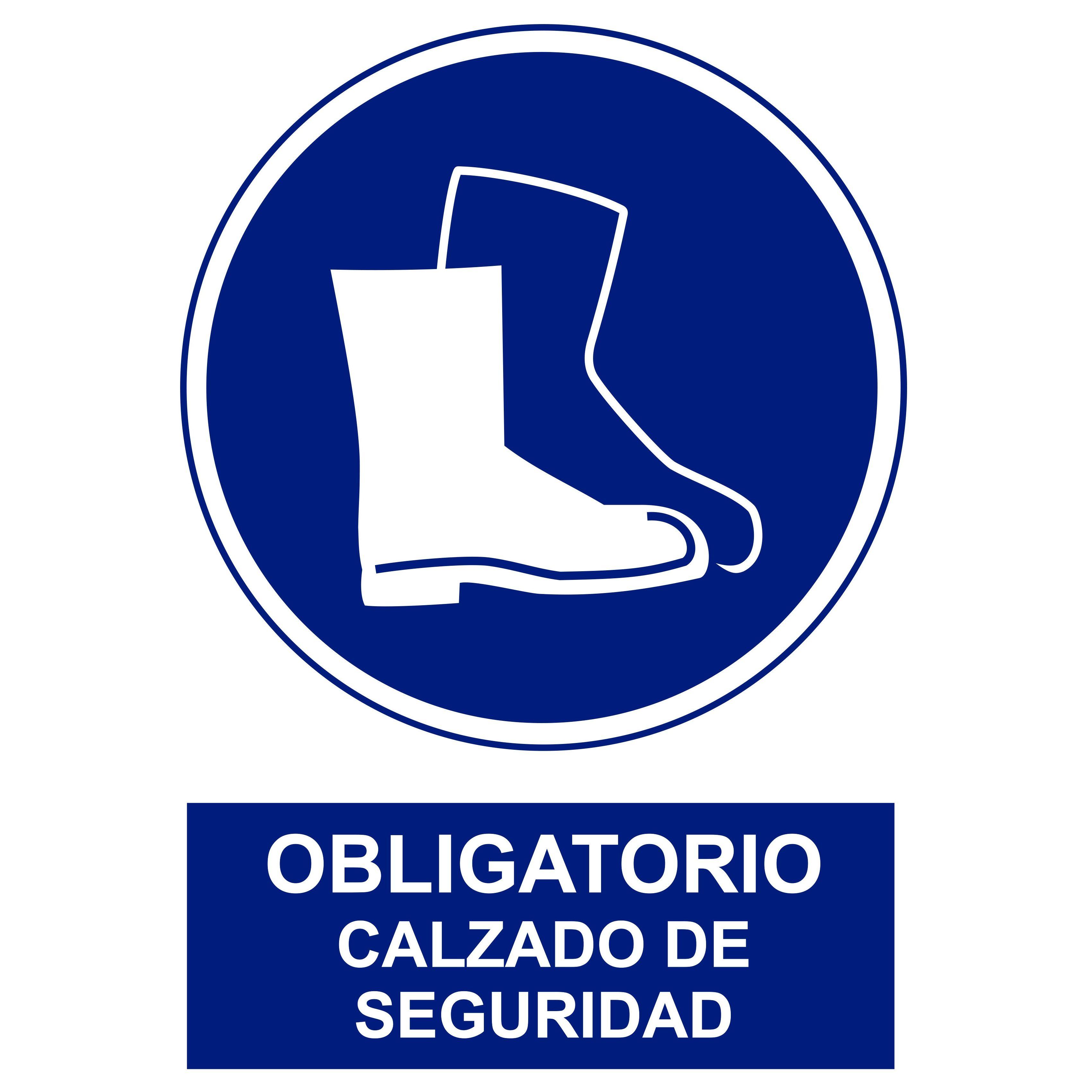 Señal OBLIGATORIO CALZADO DE SEGURIDAD