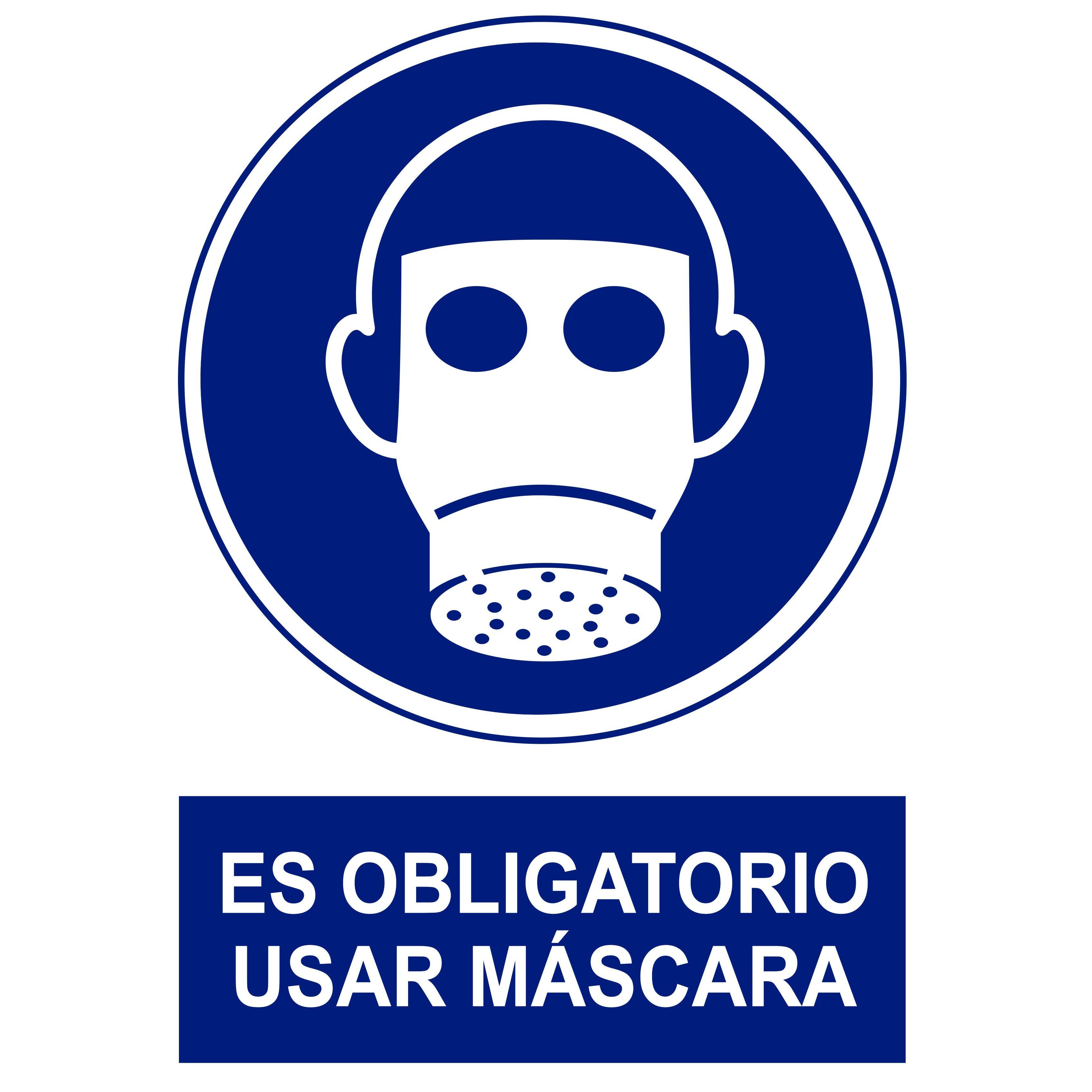 Señal ES OBLIGATORIO USAR MÁSCARA