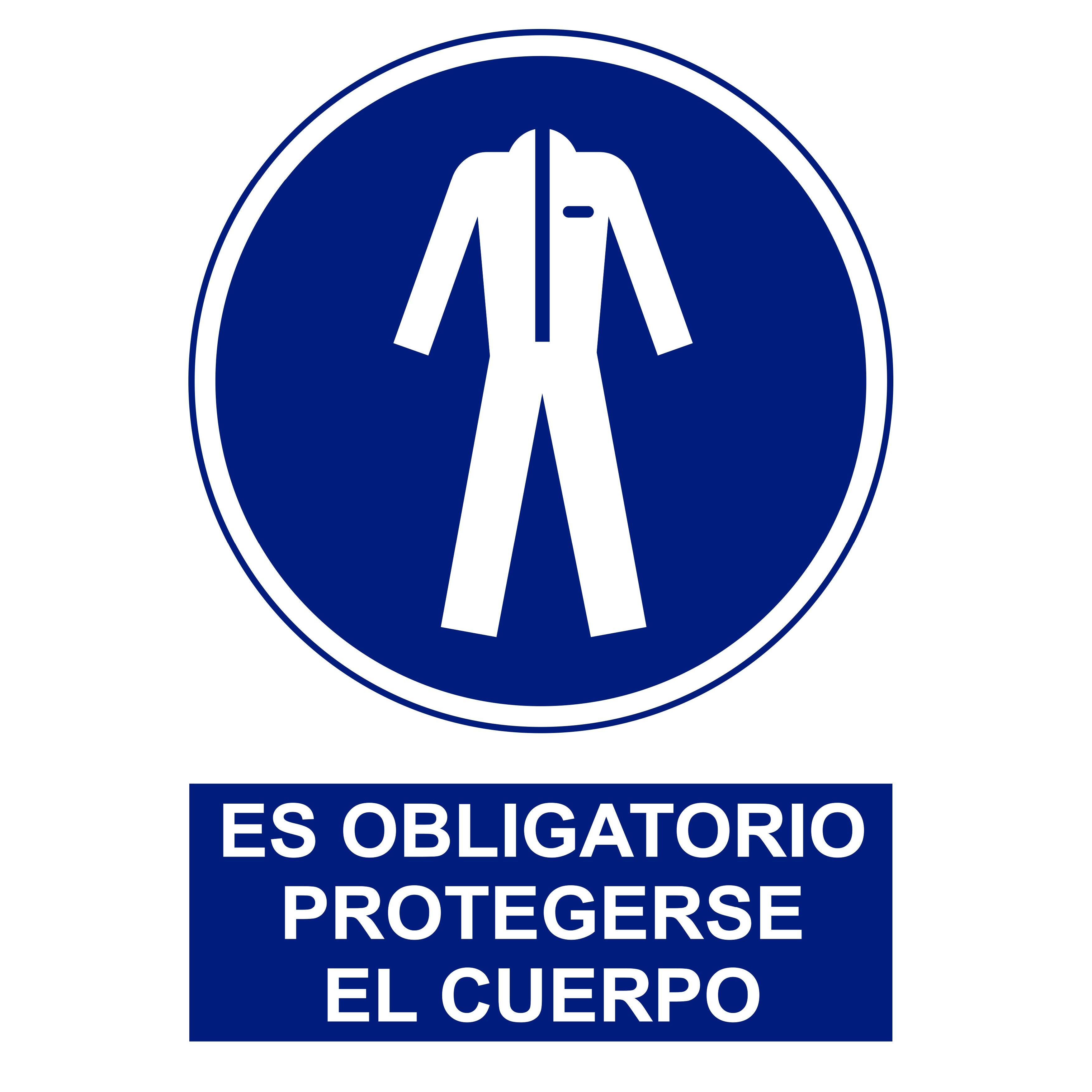 Señal ES OBLIGATORIO PROTEGERSE EL CUERPO